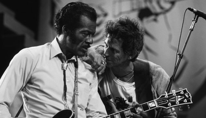Chuck Berry e Keith Richards, dos Rolling Stones