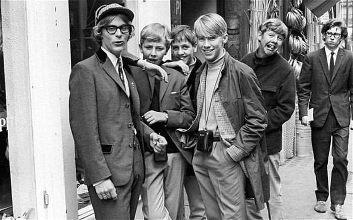 Turma de Mods em Londres, nos anos 60