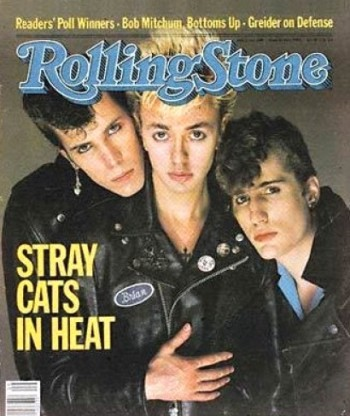 Banda Stray Cats na capa da Rolling Stone Magazine