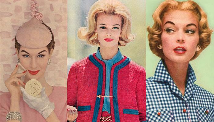 Cabelo e maquiagem anos 60