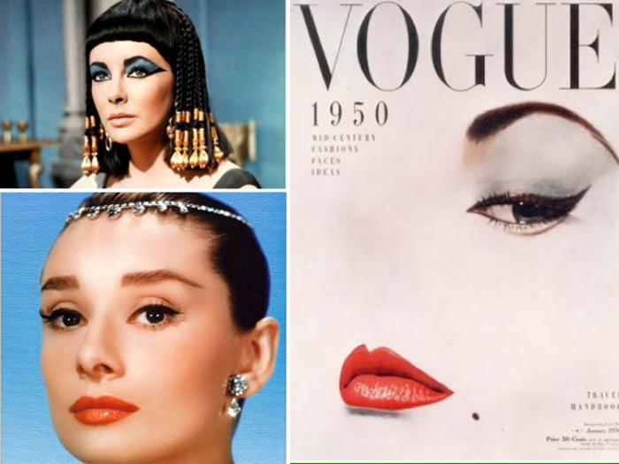 Rainha Cleópatra, Audrey Hepburn e a capa da revista Vogue de 1950