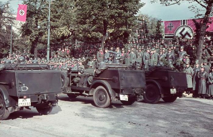 Parada da vitória alemã em Varsóvia
