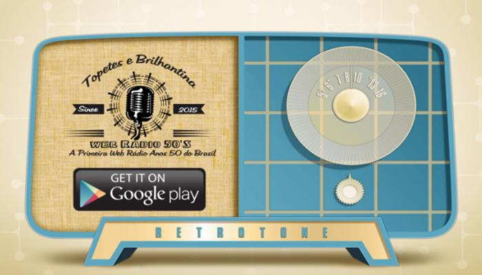 A diferença da Topetes e Brilhantina é que seu aparelho de rádio vai servir só para decoração. Afinal, a programação é online! Baixe também o aplicativo para Android na Google Play. (Foto: Reprodução)