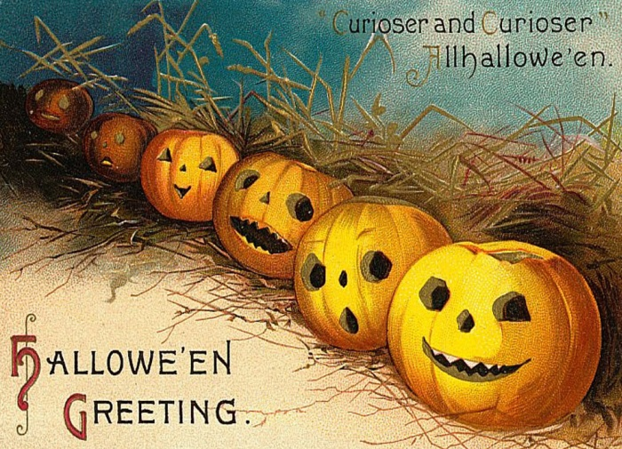 Abóboras no Halloween