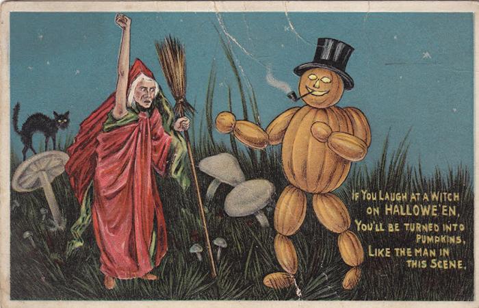 Cartão Postal de Halloween