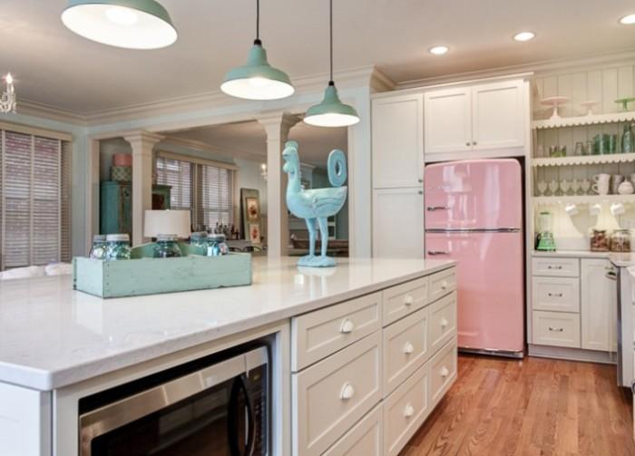 geladeira retrô rosa