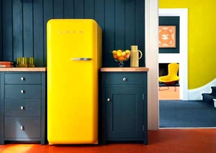 geladeira retrô amarela