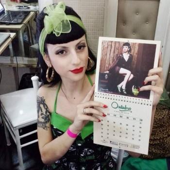 Miss Outubro, Dracurella, durante a Expo Vintage