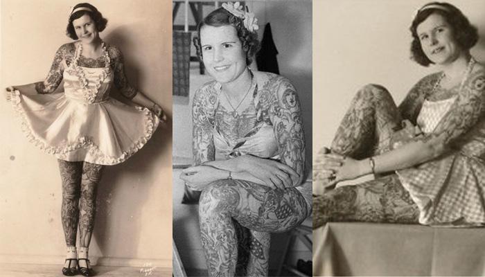 Betty Broadbent, a Lady Tattoo