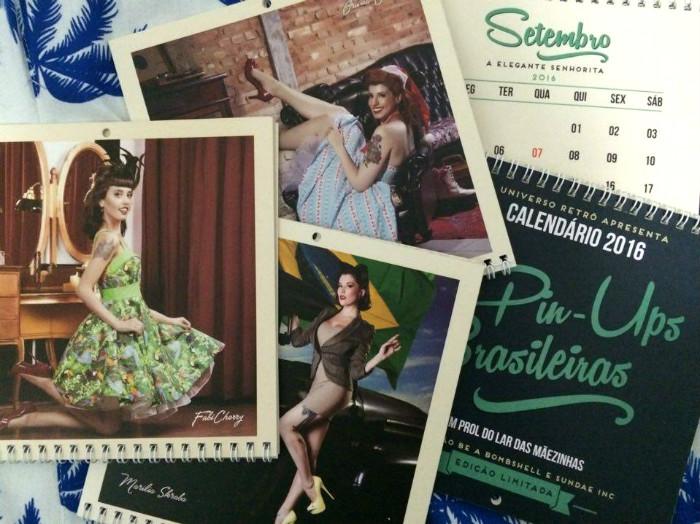 Páginas internas e capa do calendário (Foto: Divulgação)