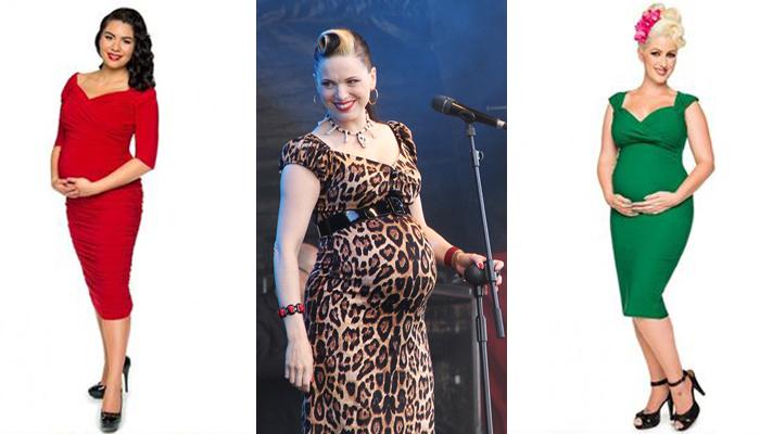 Vestido tubinho pin-up grávida