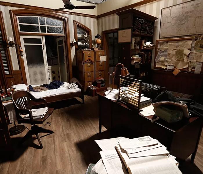 Visão geral do escritório do detetive Jac
