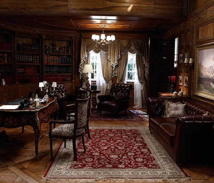Escritório da mansão de Anastácia (