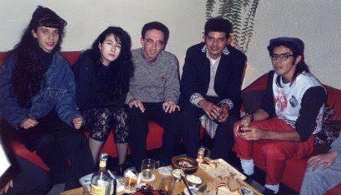 Karen, Grega, Eddy Teddy, Ivanio e Ivan. Grandes amigos de Billy Gato.