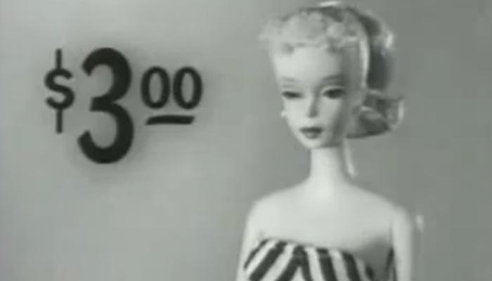 Barbie em seu primeiro comercial, 1959