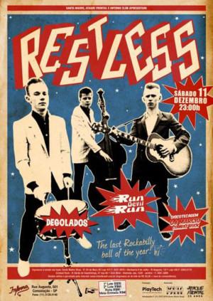 Cartaz do show do Restless no Brasil em 2010