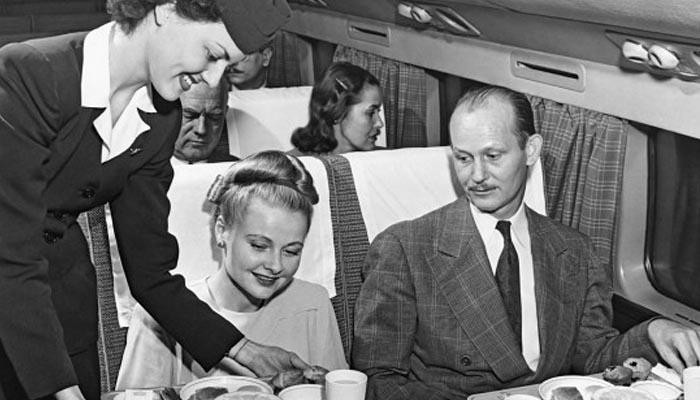 Típico vôo nos anos 50