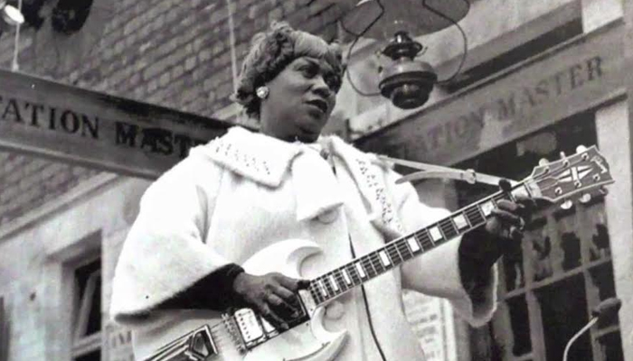 "Rosetta Tharpe, tocando ""This Train"""