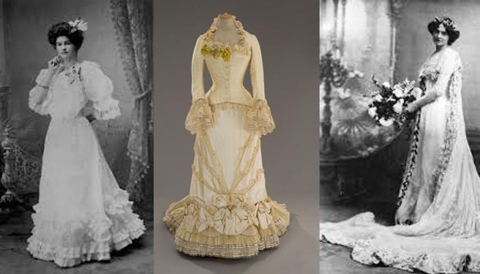 c5579195d Vestidos de noivas no decorrer das décadas