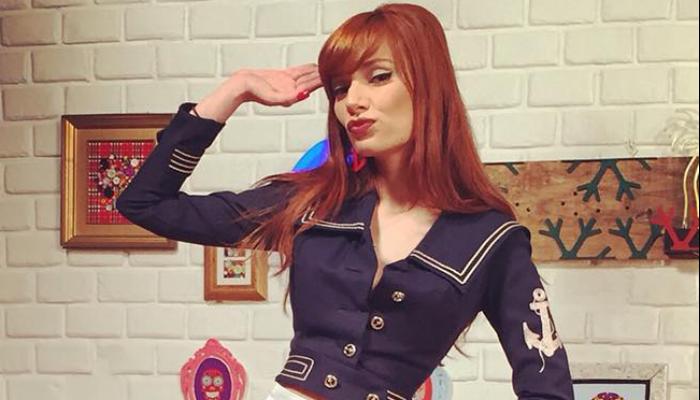 As referências retrô na nova MTV: Maria Eugênia, do programa Adotada, em visual Pin-Up (Foto: Reprodução)