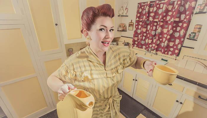 Amber Foxx em ensaio Pin-Up (Foto: Divulgação)