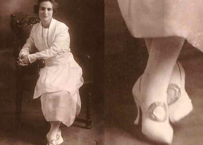 Sapato da era eduardiana