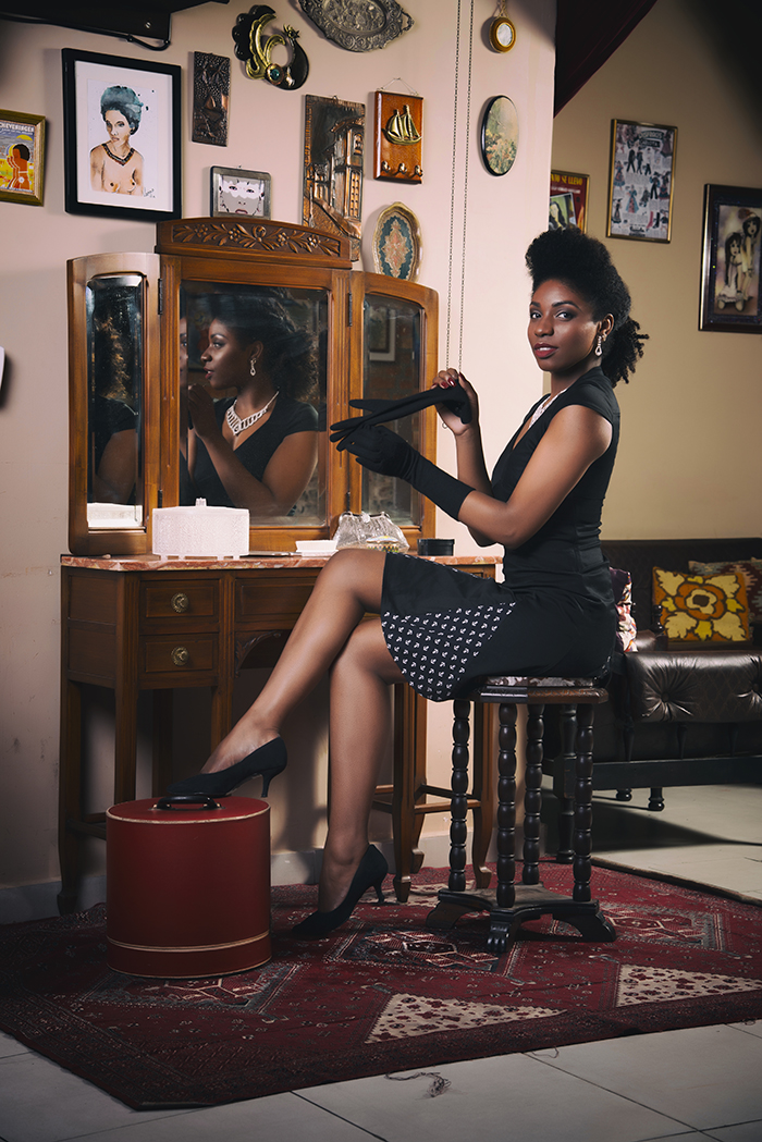 Black pinup