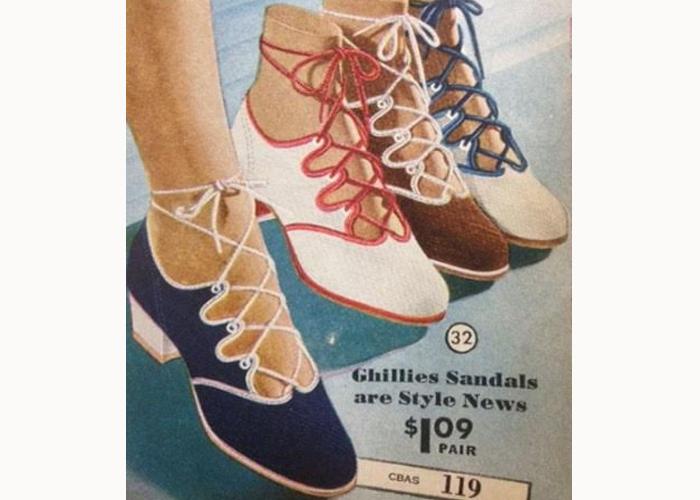 Modelo de sapato Ghillie Laces