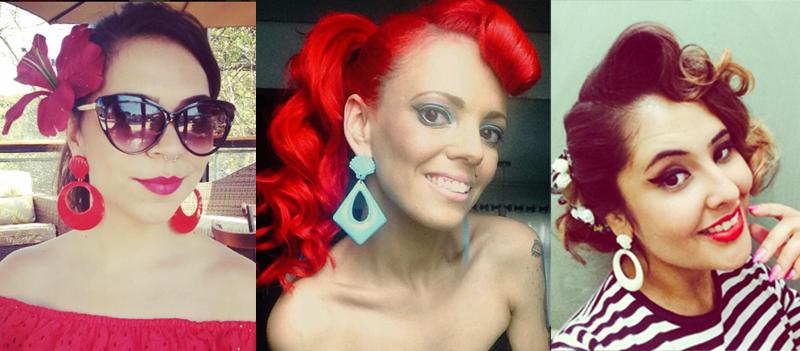 Daise Alves, Red Maddox e Frany Brunette com variações de conchas (Fotos: Reprodução)