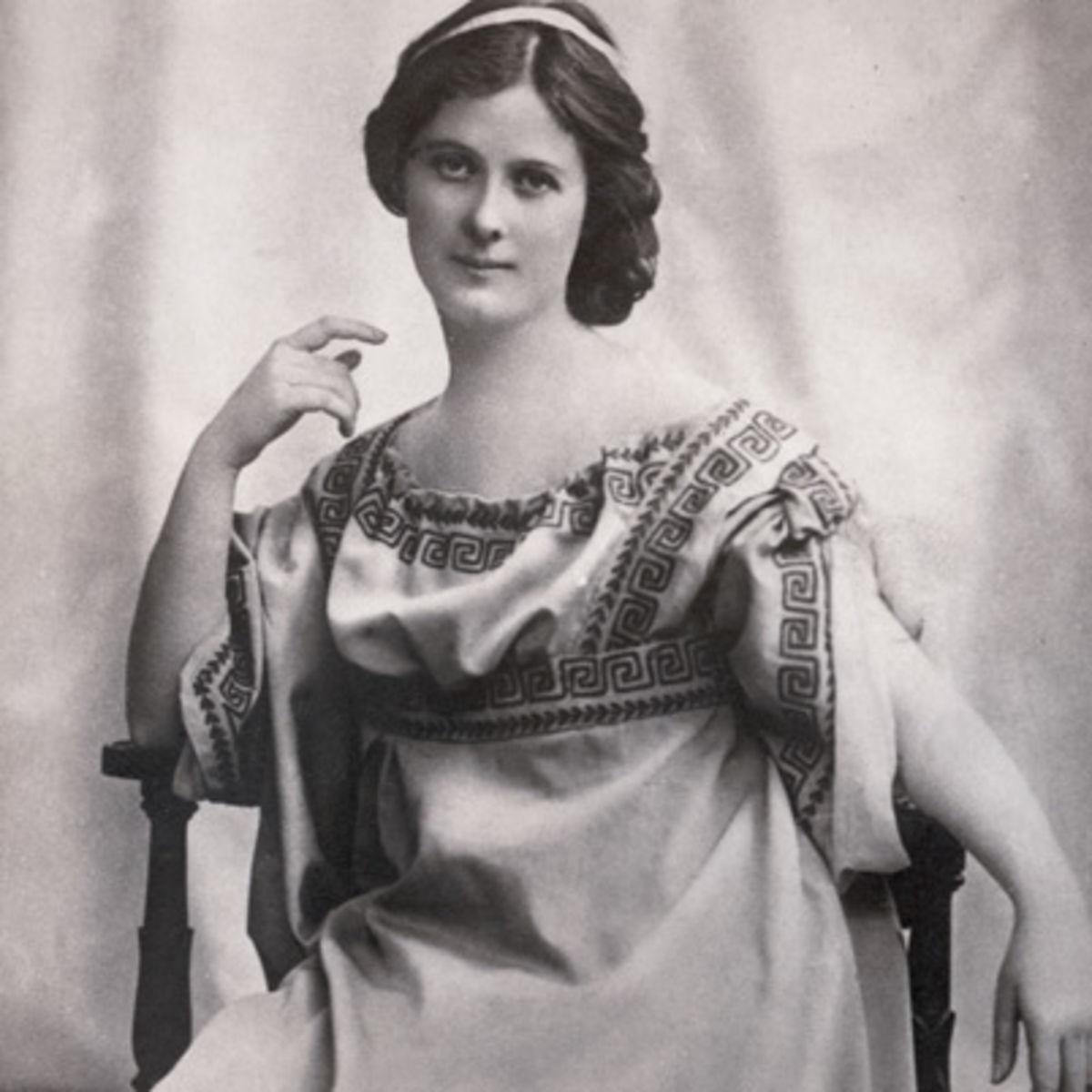 A dançarina Isadora Duncan