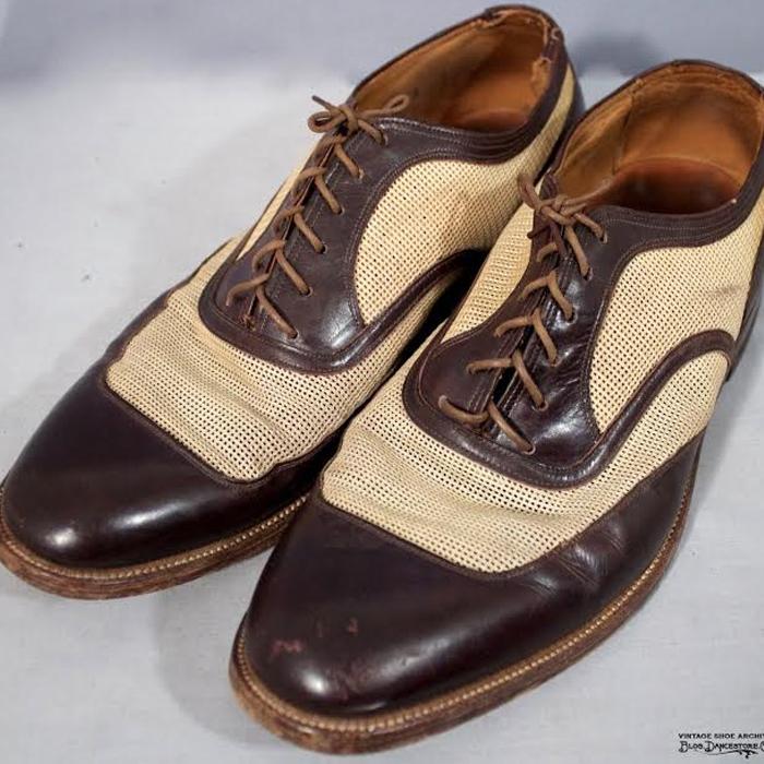 Sapato masculino bicolor usado nos anos 40