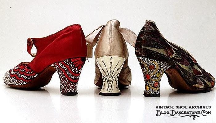 Sapatos Coloridos de 1930