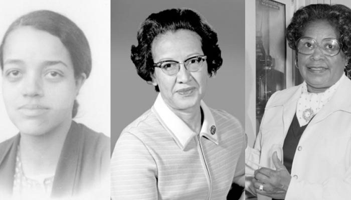 Dorothy Vaughan, Katherine Johnson, and Mary Winston Jackson