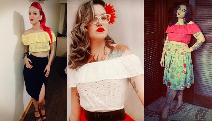 Blusa Carmen Miranda da Vudu