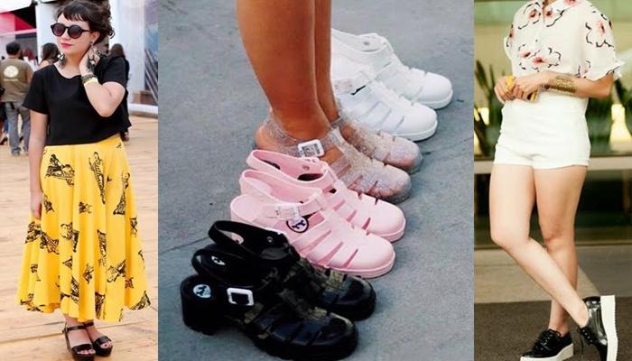 Sandálias de plástico