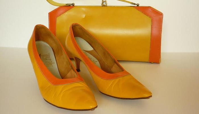 Sapato colorido dos anos 60