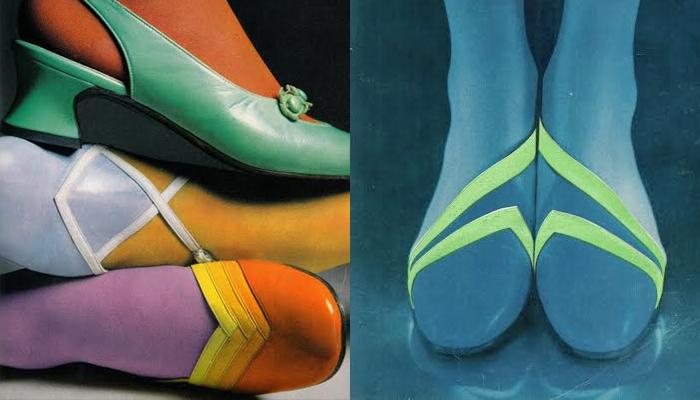 sapatos anos 60