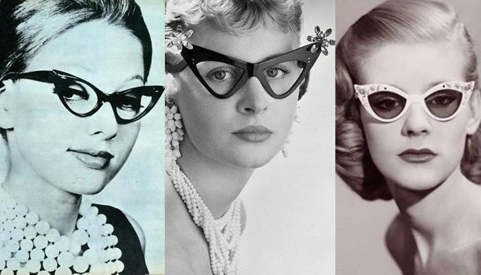 A origem do óculos gatinho  item essencial das pin-ups   Universo Retrô f57cbbf2f4
