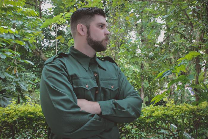 Camisa Verde Militar Battle Patrol