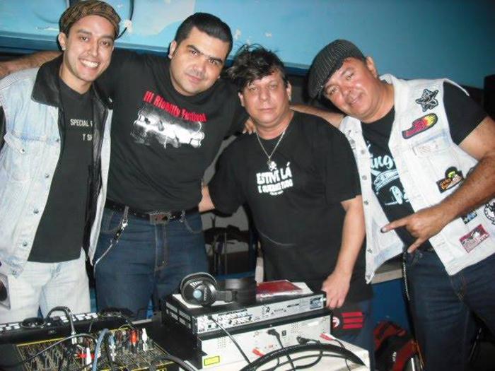Os DJs Sid Nelson, Wagnão, Johnny e Ivan Rocker (Foto: Reprodução)