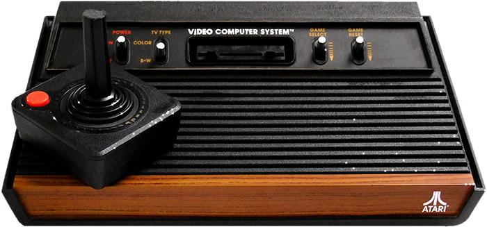 O Atari 2600 original, lançado em 1977