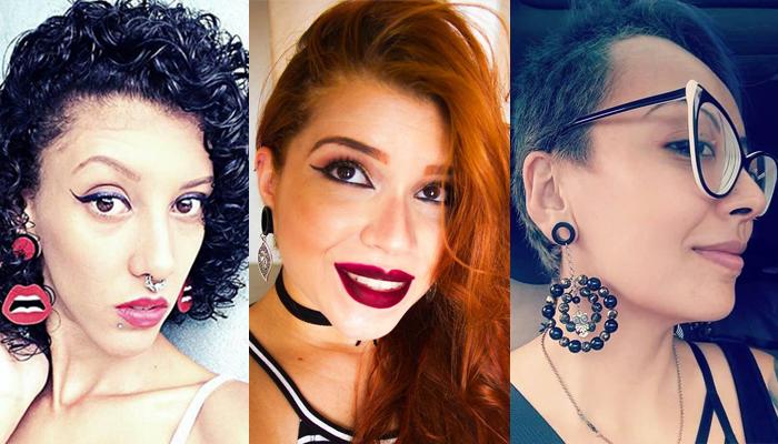 Clientes da Dora'Art, adaptando os alarga-brincos da marca ao seu estilo pessoal (Foto: Divulgação)