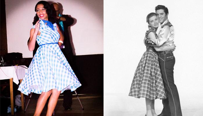 Cherry Cris com figurino inspirado em Susan Jessup interpretando a personagem Dolores Hart no filme Loving Yo