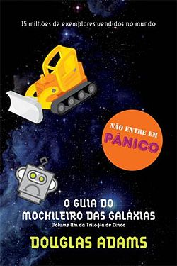 Livro 'O guia do mochileiro das galáxias'