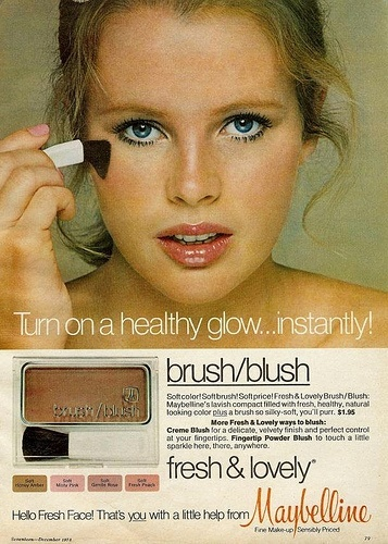 Anúncio de blush