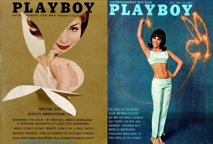 Capas da Playboy de 1961 e 1965