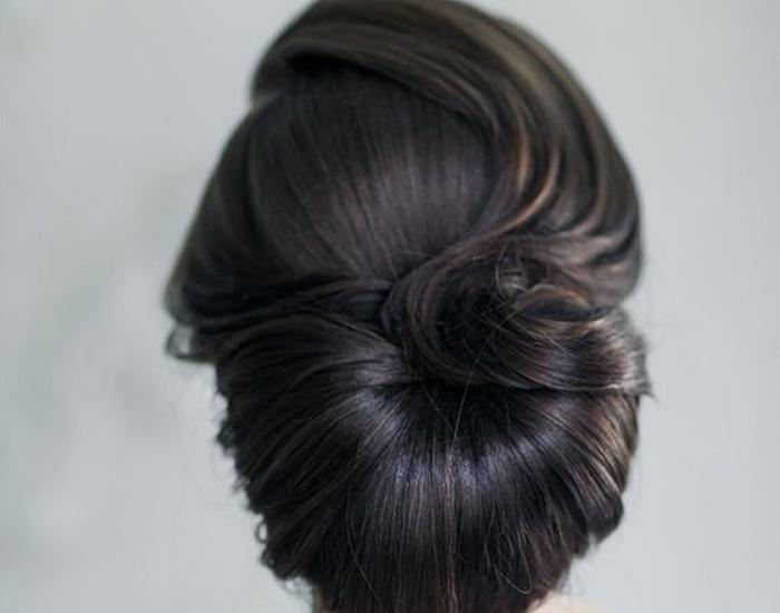 Penteado vintage noiva