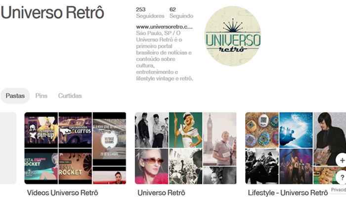 Universo Retrô no Pinterest