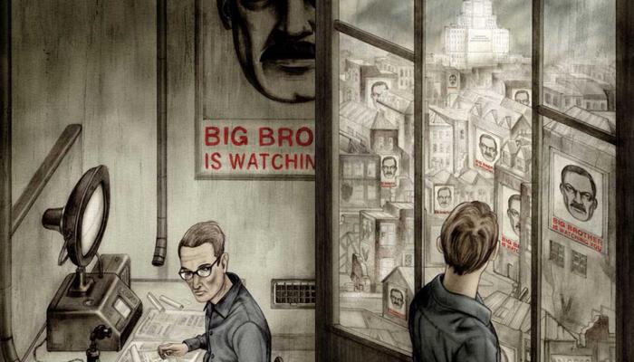 Ilustração inspirada no livro 1984