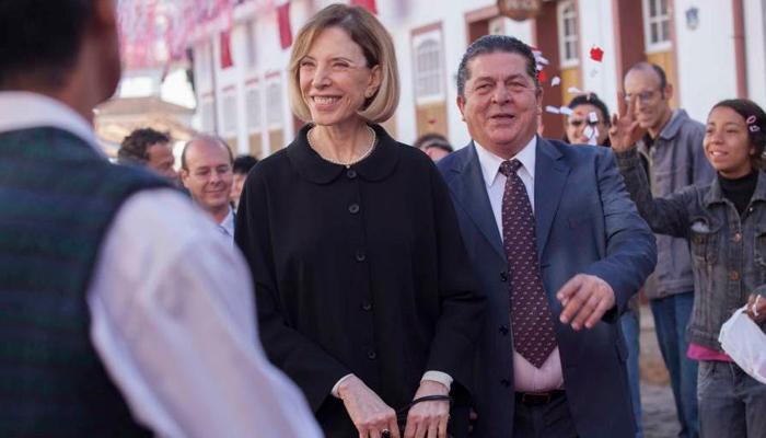 Marilia Gabriela e Stepan Nercessian